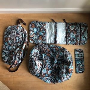 Four-Piece Vera Bradley Travel Set